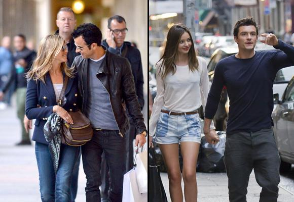 Love is in the air for these celebrity couples. We look at the most loved-up celebs that just can't keep their hands to themselves. By Leanne Hudson *Images: Snapper Media*