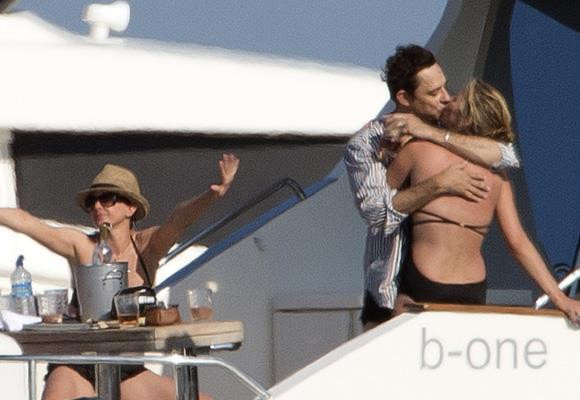 Kate swapped the catwalk for the aisle and wed The Kills guitarist, Jamie, more than a year ago, but this shot of them in Saint Tropez shows life is one long honeymoon. Jamie credits Kate with luring him away from veganism — by cooking him a bacon sandwich in her undies. *Images: Snapper Media*