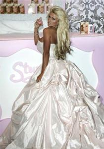 British model Katie Price, better known as Jordan, has just launched her new fragrance *Stunning*. The fragrance might be stunning, but she has left us somewhat stunned by her bridal ball gown look.