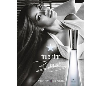 The sleek ad that markets Beyoncé's new signature perfume, True Star, launched in association with Tommy Hilfiger.    [Buy True Star now on ninemsn Shopping](http://shopping.ninemsn.com.au/results/shp/?text=true+star,scId=1,bCatId=39)