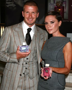 From fashion lines, to sports endorsements and even to sexy lingerie ads, the Beckham's are a marketer's dream. Here David and Victoria promote their new perfume line at Macy's.