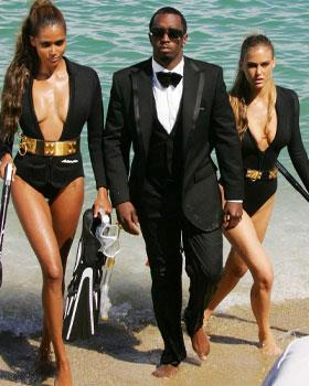 Sean Combs took it one step further and filmed a sexy video with models including Israeli top model and Di Caprio's girlfriend Bar Rafaeli, promoting his new perfume in St Tropez, France.