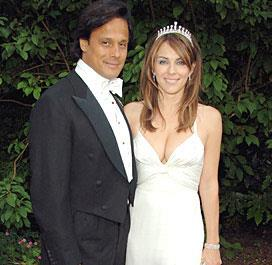 **Liz Hurley** and her businessman groom **Arun Nayer** welcomed guests at their second wedding, having already exchanged vows the day before at an emergency civil ceremony, which marked the beginning of their week-long nuptial celebrations packed with romance and drama.