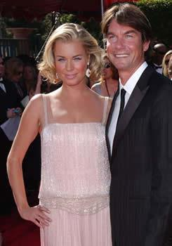 *Ugly Betty* star **Rebecca Romijn** and hubby #2, *Crossing Jordan* actor **Jerry O'Connell**, married in July 2007. The glamorous couple spent their honeymoon at the Ojai Valley Inn & Spa — a popular Hollywood choice.    **Celebrity workouts:** [Rebecca Romijn keeps toned with Pilates](/article.aspx?id=157144)