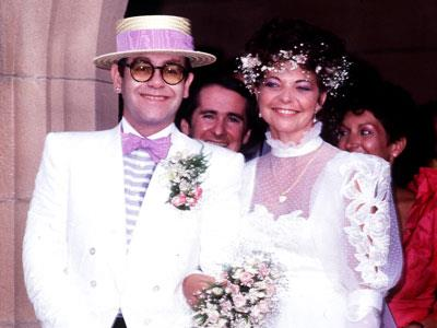 Elton John's unexpected marriage to Aussie Renata Blauel made world news in 1984. Years after their divorce, he married long-term partner David Furnish in a British civil ceremony.