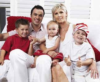 Shannon Noll's family Christmas