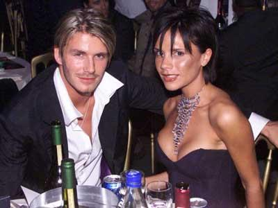 Earlier days of the romance between Posh and Becks, at an awards ceremony in London during October 1999.