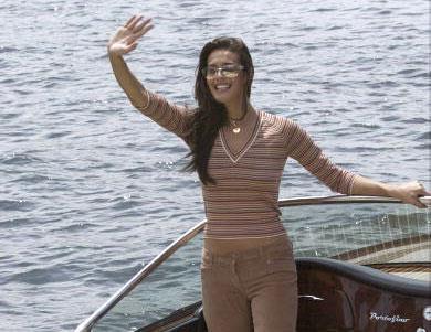 Megan cruises Sydney Harbour in super-cool style.