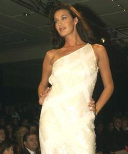 On the catwalk at the David Jones Winter fashion 2003 launch in their Sydney store.