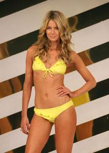 Jennifer Hawkins takes to the catwalk.
