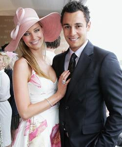 Jennifer is known for her track-side fashions, including this floral look at 2006 Melbourne Cup.