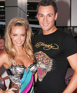 Jake with Lara Bingle at the Nickelodeon Kids' Choice Awards in Sydney, 2006.