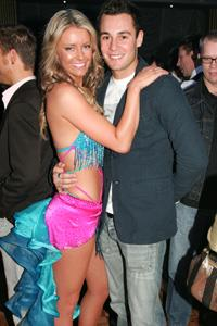 Jen and Jake at the *Dancing with the Stars* final in 2006.