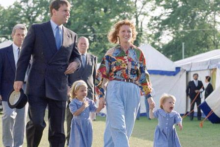 Sarah and husband Prince Andrew (pictured with daughters Beatrice and Eugenie) divorced in 1996.