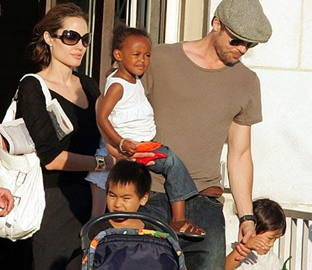 Angelina first became a mother when she adopted seven-month-old Maddox from Cambodia in 2002 while still married to Billy Bob Thornton. Zahara from Ethiopia joined Jolie's growing family in 2005, which by now included Brad Pitt as her partner. The birth of Shiloh followed in 2006 and today the Jolie-Pitt brood stands at six following the addition of three-year-old Vietnamese boy Pax in 2007, and the couple's twins Knox and Vivienne in 2008.