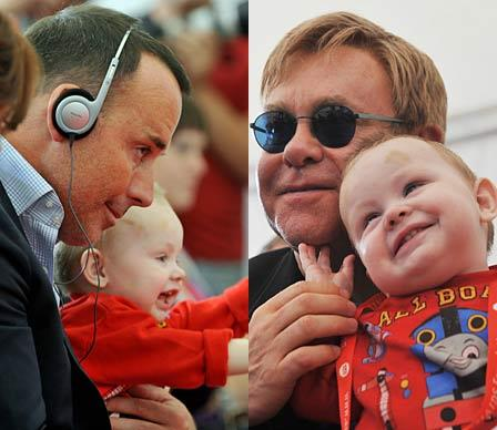 The 62-year-old musician was devastated recently when his adoption plans fell through. John and his partner David Furnish met a 14-month-old HIV positive boy called Lev during a tour of a Ukranian orphanage, but when the couple expressed a desire to adopt him they were told they were ineligible because of David's age and because the Ukranian government doesn't recognise same-sex unions.