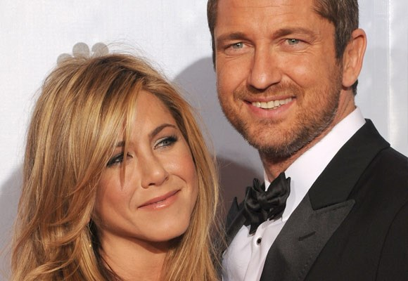 Jen spent a lot of time with her *Bounty Hunter* co-star Gerard Butler.    Although they are not officially a couple, the pair was spotted up close and personal at the 2010 Golden Globes.