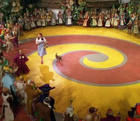 """Follow the yellow brick road"""