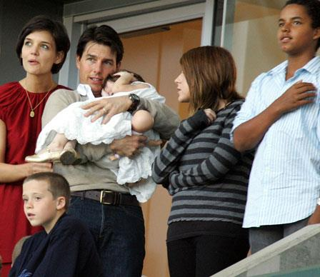 Baby Suri was born in April 2006, just one year after Katie and Tom married - making Isabella a big sister for the second time. Though there have never been reports of animosity in the Cruise-Holmes clan, little Suri demands much of her parents' time.