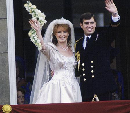 Sarah Ferguson weds Prince Andrew on July 23, 1986.