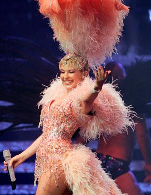 She is one of the most well known Australians in the world and has had huge world wide success with her *Showgirl* tour.