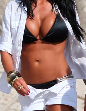 Which celebrity spends a little too much time in the sun or has an endless supply of fake tan?