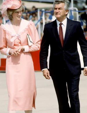 Throughout his political career, Bob Hawke welcomed a number of the world's most fascinating and influential people to Australia. This included Princess Diana when she visited Canberra in 1983.
