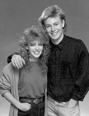 Kylie Minogue shot to fame in Australia and the UK as Charlene Robinson in *Neighbours*. She starred alongside Jason Donovan and their onscreen wedding episode in 1987 attracted an audience of 20 million British viewers.