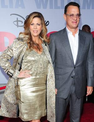 They met on the set of Tom's Tv show *Bosom Buddies* but a love interest between Tom and actress Rita Wilson wasn't sparked until they worked again with each other on the movie *Volunteers*. The pair married in 1988 and have since become one of Hollywood's most popular couples. The pair have two sons Chester and Truman.