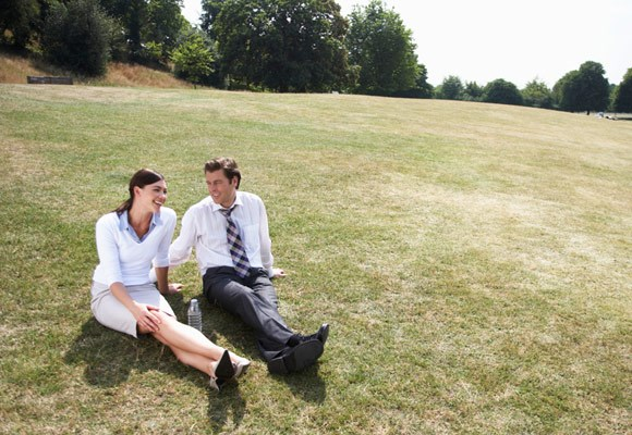 When at work, get up from your desk and move away from the office. Take just five minutes outside in fresh air and feel yourself de-stress.