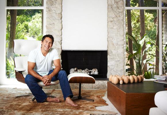 At home with Jamie Durie and his daughter Taylor