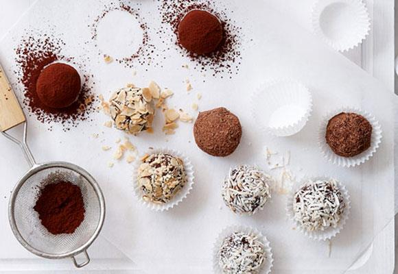 """**Chocolate rum truffles** <br><br> These gorgeous creamy chocolate rum truffles are perfect enjoyed as a decadent small treat. Wrap them in cellophane and a ribbon and give them as homemade gifts for Christmas and birthdays. <br><br> [**Read the full recipe here**](https://www.womensweeklyfood.com.au/recipes/chocolate-rum-truffles-27959
