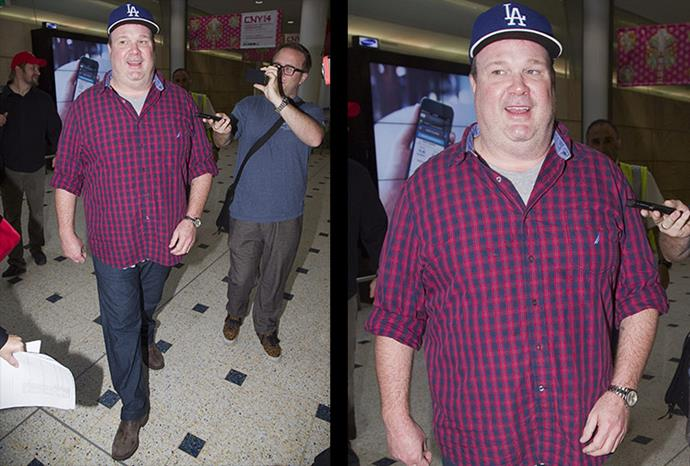 Eric Stonestreet was the first to arrive.