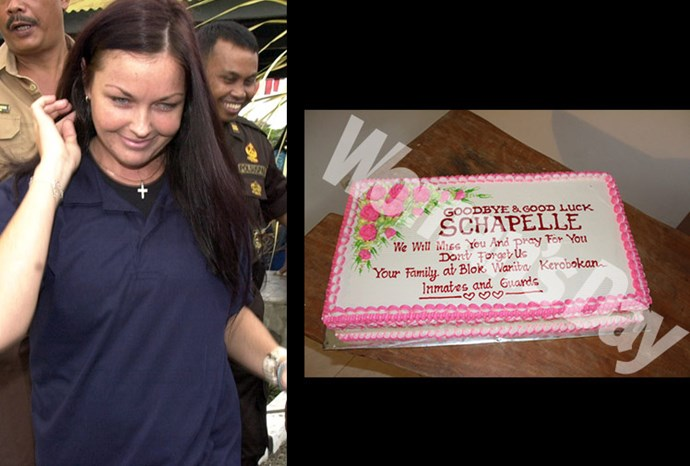 Schapelle was thrown a party by her fellow inmates and female guards.