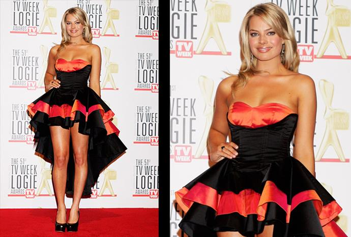 Margot wearing a Spanish-inspired number at the TV Week Logie Awards.