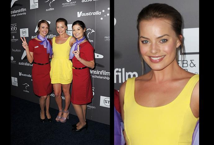 Margot posing at the *Australians in Film's 2011 Breakthrough Awards.*