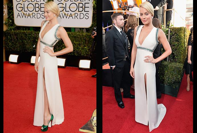 She absolutely nailed her red carpet look at the 71st Annual Golden Globe Awards.