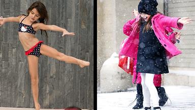 Suri dances in the sun and snow!