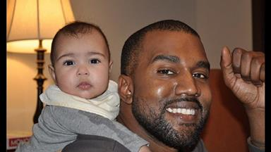 First pic: Kanye with baby North