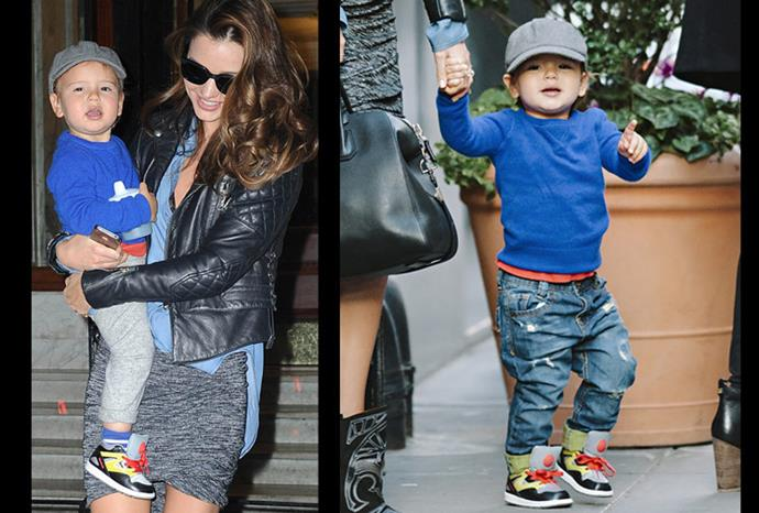 Miranda and son Flynn head out and about in New York.
