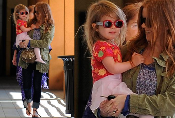 Isla Fisher's daughter Olive.