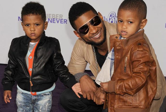 Usher's sons Usher Raymond V and Naviyd Ely Raymond.