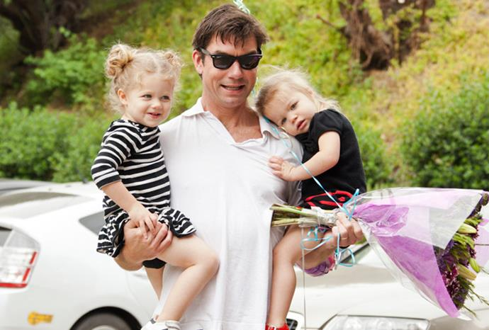 Jerry O'Connell's twin daughters Dolly and Charlie.
