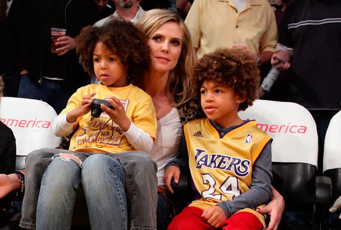 Heidi Klum's sons Henry and Johan.