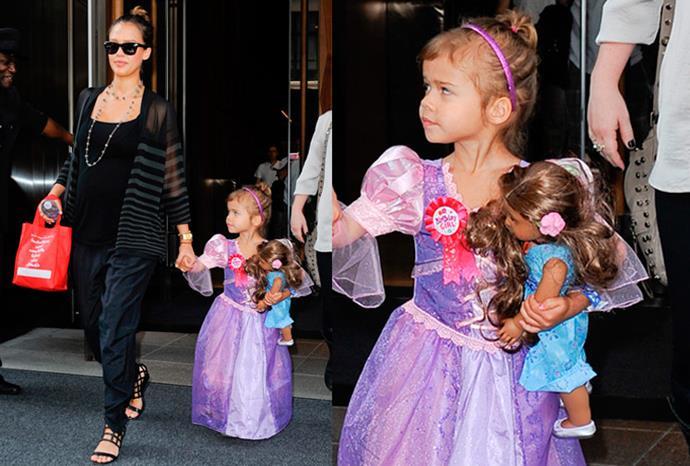 Jessica Alba's daughter Honor Marie Warren.
