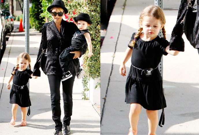 Nicole Richie's children Harlow and Sparrow.