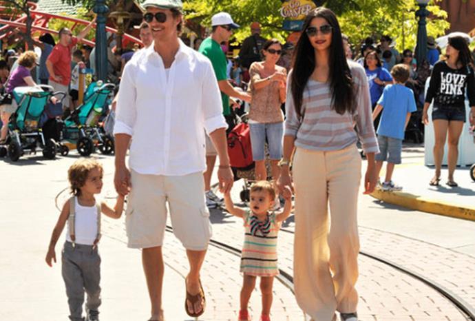 Matthew McConaughey's children Vida Alves and Levi.