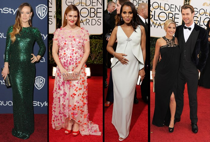 The Golden Globes baby bumps