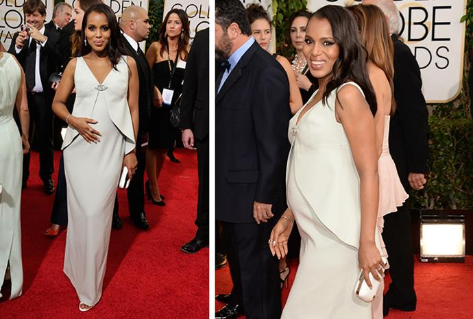 Scandal actress Kerry Washington announced her pregnancy at the awards ceremony.