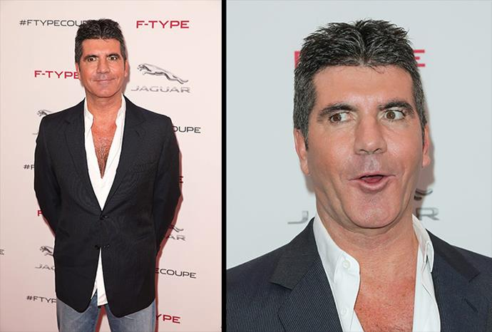 Simon Cowell steps out with a waxy appearance.